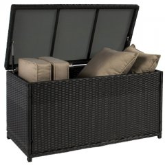 Storage box made of polyrattan