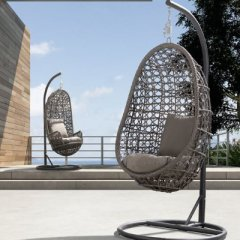 Hanging chair made of rattan