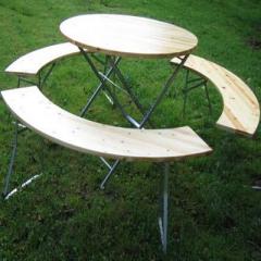 Bierzelt Garnitur aus Holz