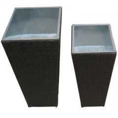 Planting pots made of Polyrattan