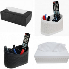 Tissue box and remote holder