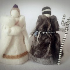 Nativity figures made of felt