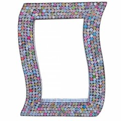 Mirror made of recycled paper