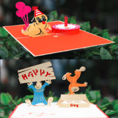 Popup card designed in 3D