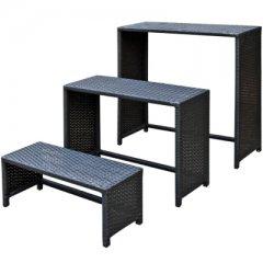 Tisch-Set aus Polyrattan