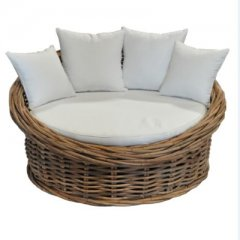 Sofa made of rattan