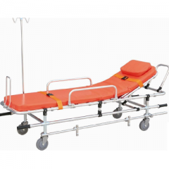 Patient stretcher with wheels